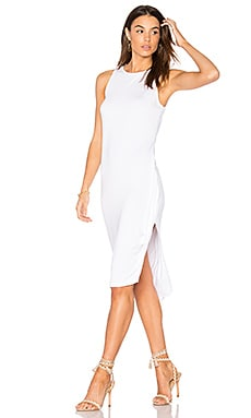 Topaz Midi Dress in White