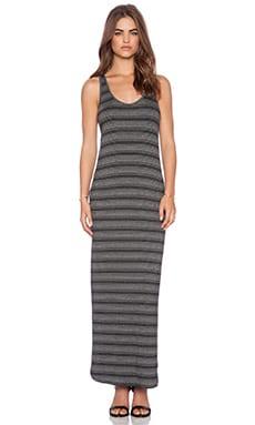 Feel the Piece Trudy Maxi Dress in Black Stripe