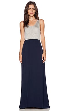 Feel the Piece Faye Maxi Dress in Light Heather & Navy