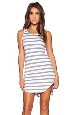 Feel the Piece Striped Robby Dress in Navy & White