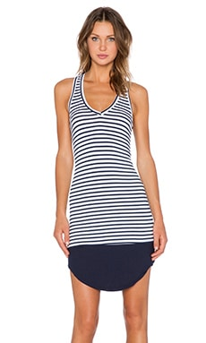 Feel the Piece Diversion Stripe Dress in Navy & White