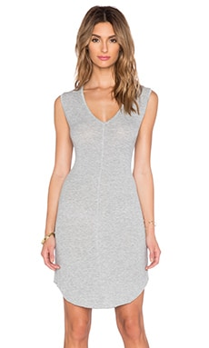Feel the Piece Varla V Neck Dress in Heather Grey