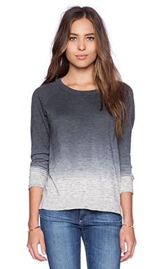 Feel the Piece Milo Sweater in White & Grey Dip Dye