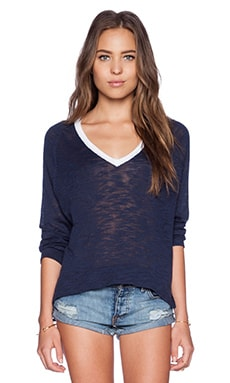 Feel the Piece Suki Sweater in Navy