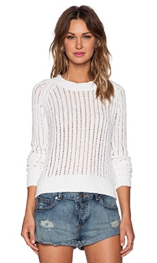 Feel the Piece Gigi Sweater in White