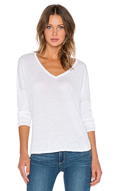 Feel the Piece Liza Sweater in Optic White