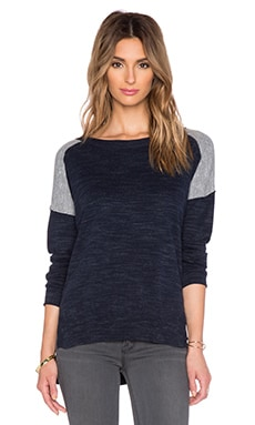 Feel the Piece Boden Crew Neck Sweater in Heather Navy & Heather Grey