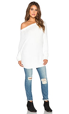 Feel the Piece Meadow Distressed Sweater in White