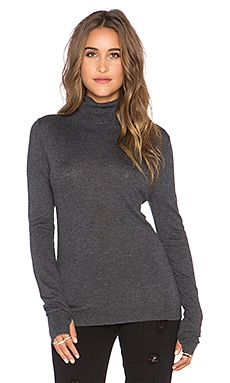 Feel the Piece Zeek Turtleneck Sweater in Charcoal Heather