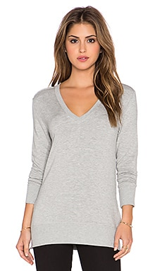 Feel the Piece Ellington Sweatshirt Dress in Heather Grey