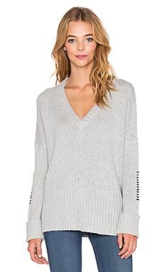 Feel the Piece Brigid V Neck Sweater in Silver