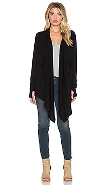 Feel the Piece Aura Cardigan in Jet Set Black