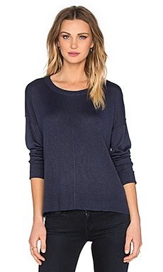 Feel the Piece Luxe Sweater in Navy