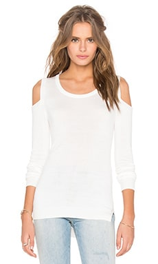 Florentine Open Shoulder Sweater en Blanco