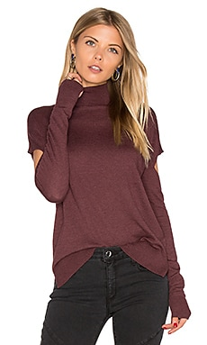 Cashmere Blend Sylvia Sweater in Fig Heather