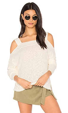 Bonnie Cold Shoulder Sweater in Natural