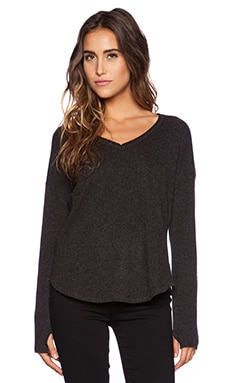 Feel the Piece Isa Sweater in Black Heather