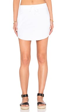 Feel the Piece Maier Tie Waist Mini Skirt in White