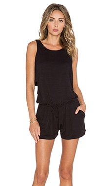 Feel the Piece Raegen Romper in Black