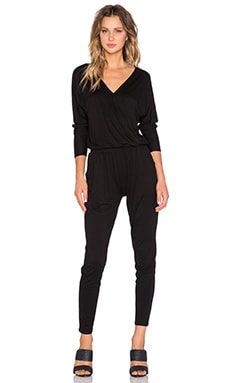 Feel the Piece Shidori Cross Front Jumpsuit in Black