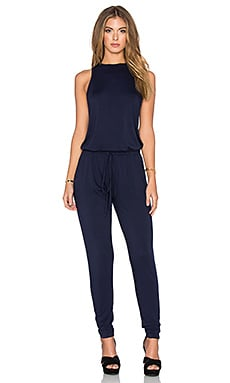 Feel the Piece Mode Jumpsuit in Navy