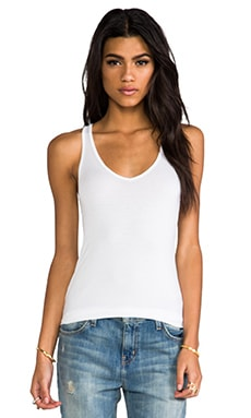 Terrific Racer V-Neck Tank en Blanc