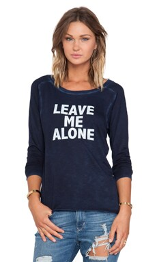 Feel the Piece x Tyler Jacobs Leave Me Alone Top in Navy Velvet