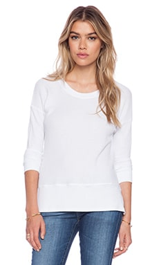 Feel the Piece May Thermal Tee in White