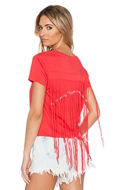 Feel the Piece x Tyler Jacobs Draven Fringe Tee in Red