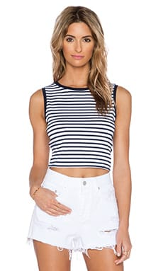 Feel the Piece Miya Stripe Tank in Navy & White