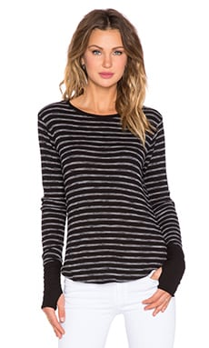 Feel the Piece Arca Stripe Tee in Black Stripe
