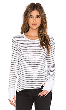 Feel the Piece Swynton Crew Neck Tee in Black & White Stripe