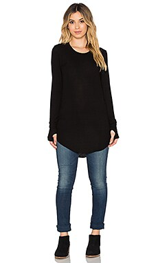 Feel the Piece Auden Top in Black