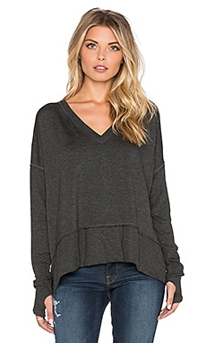 Feel the Piece Solari Top in Charcoal