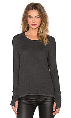 Feel the Piece Tundra Top in Charcoal
