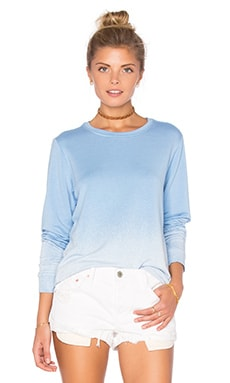 Feel the Piece Caper Long Sleeve Top in Blue Dip Dye