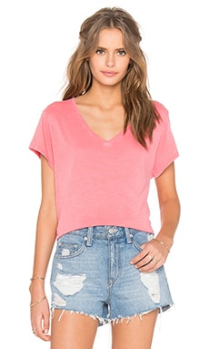 Feel the Piece Champion V-Neck Tee in Coral Reef