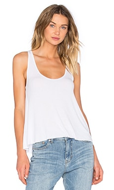 Sam Scoop Neck Tank in White