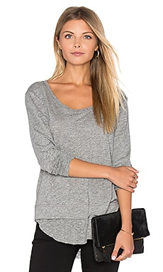 Feel the Piece Penelope Top in Heather Grey