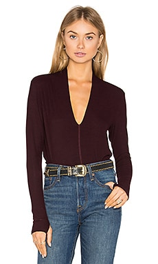 Chloe Top in Spanish Wine