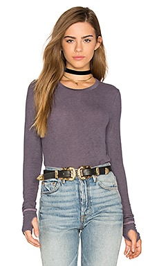 Aida Top in Plum Smoke