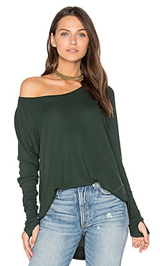 Sabel Long Sleeve Tee in Heather Pine