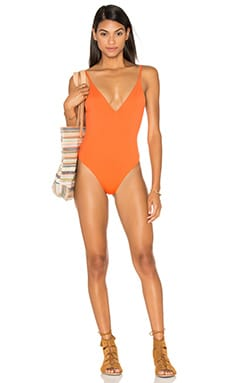 F E L L A Danny Swimsuit in Aperol Orange