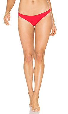 Jasper Bonded Bikini Bottom in Red