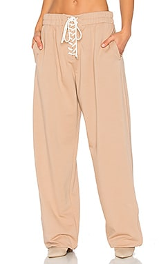 Front Lacing Sweatpant en Naturel