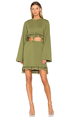 Kimono Suspender Dress in Olive Branch