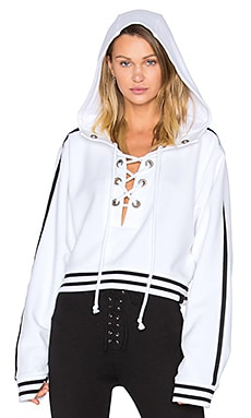 Rising Sun Lace Up Sweatshirt in