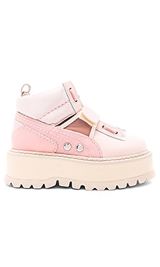 Strap Sneaker Boot in Silver Pink