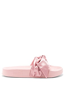 Bow Slide in Silver Pink