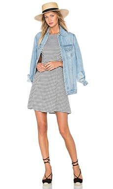 Fifteen Twenty Sleeveless Fit Flare Dress in Stripe